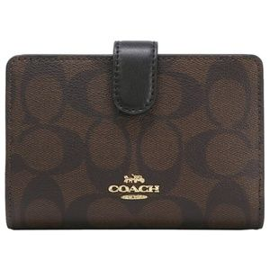 MEDIUM CORNER ZIP WALLET (COACH F23553)